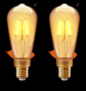 RF 264 Edison filament vintage E27 bulb 2-pack