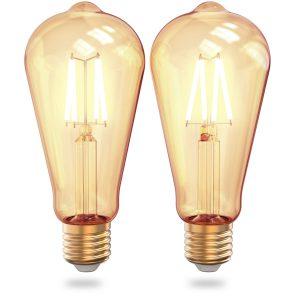 WiFi filament Edison bulbs 2-pack
